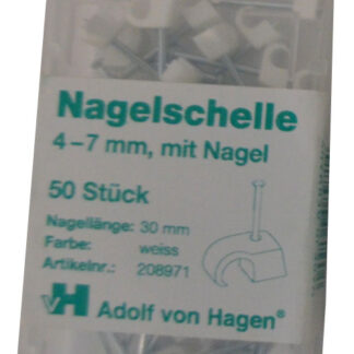 AVH Nagelschellen 4 - 7 mm , weiß , 50 Stück