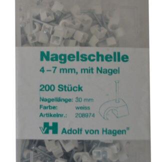 AVH Nagelschellen 4 - 7 mm , weiß , 200 Stück