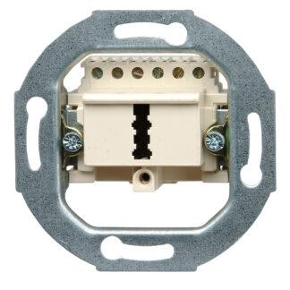 Kopp TAE Dose unterputz Telefonanschlussdose F-Codierung, 1 x 6-polig