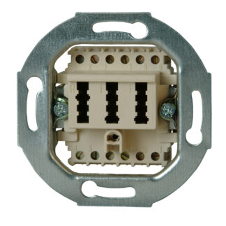 Kopp Telefonanschlussdose TAE, 2 Amtsleitung und 1 Zusatzgeräte, 3×6-polig, NFF-Codierung
