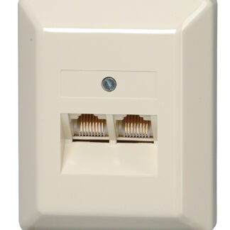 Kopp Telefonanschlussdose TAE Aufputz , 1 Amtsleitung und 2 Zusatzgeräte, 3×6-polig, NFN-Codierung
