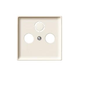 Merten Artec Sat Abdeckung Zentralplatte für Antennensteckdose cremeweiß