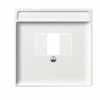 Merten Artec TAE Abdeckung Zentralplatte für TAE , Audio , USB polarweiß