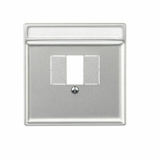 Merten Artec TAE Abdeckung Zentralplatte für TAE , Audio , USB silber