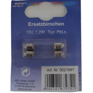 REV Soffittenlampe Lampe Birne 15V 1,2W TYP: PbLs zur Beleuchtung von Klingelplatten