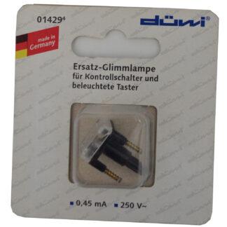 Düwi REV Glimmlampe zur Beleuchtung von Schaltersockeln 0,45mA
