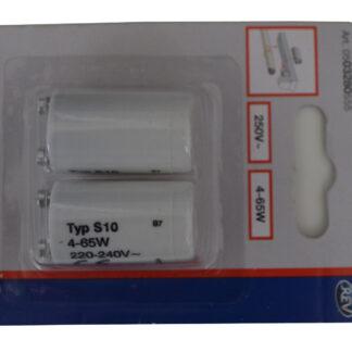 2 Stück REV Starter für Leuchtstoffröhren Leuchtstofflampen-Starter 4-65W