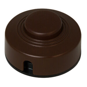 Kopp Fußtretschalter Ausschalter mit Zugentlastung 1 polig 2 A 250V braun