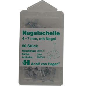 AVH Nagelschellen iso Schellen 4-7 mm , 50 Stück, grau