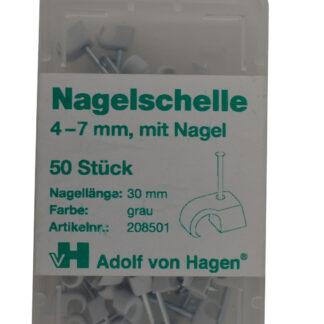 AVH Nagelschellen iso Schellen ,Stahlnagel Nagel Schellen 4-7 mm , 50 Stück grau