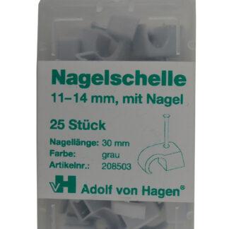 AVH Nagelschellen iso Schellen ,Stahlnagel Nagel Schellen 11-14 mm , 25 Stück grau