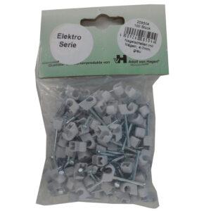 AVH Nagelschellen iso Schellen 4-7 mm , 100 Stück, grau