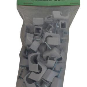 AVH Nagelschellen iso Schellen ,Stahlnagel Nagel Schellen 11-14 mm , 50 Stück grau