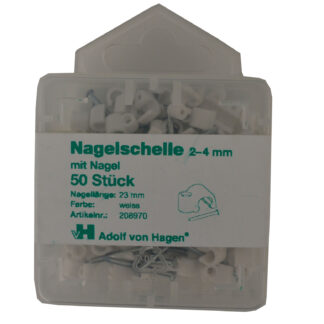 Adolf von Hagen Nagelschellen 2 -4 mm , 50 Stück weiß