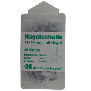 AVH Nagelschellen iso Schellen ,Stahlnagel 11-14mm , 25 Stück, weiß