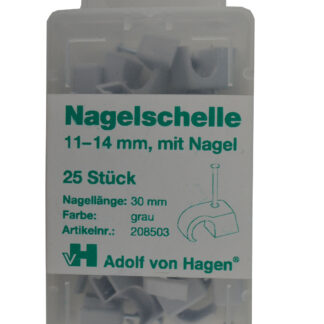 AVH Nagelschellen iso Schellen ,Stahlnagel Nagel Schellen 11-14mm , 25 Stück weiß
