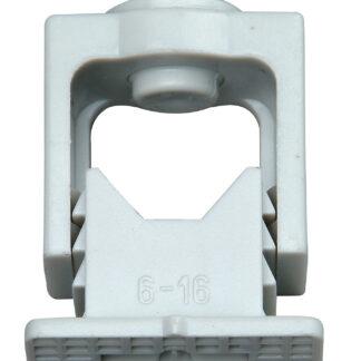 Kopp Greif Iso Schellen 6-16mm, mit Klemmschraube, 10 Stück, M 6 Langloch grau