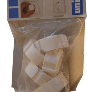 Unitec Kindersicherung für Steckdosen Sicherheitsabdeckung , 5 Stück , creme weiß