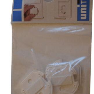 Unitec Kindersicherung für Steckdosen Sicherheitsabdeckung , 3 Stück , weiß
