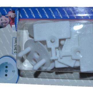 Kopp Düwi Kindersicherung für Steckdosen Set-Kinderschutz 5 Stück weiß