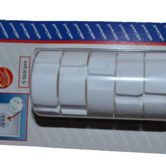 Düwi Kindersicherung für Steckdosen Set-Kinderschutz , 5 Stück , weiss