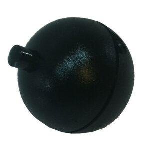 Runder Einbau Druckschalter 1 polig Ausschalter 2 A , schwarz