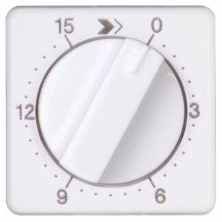 Kopp Europa Abdeckung für mech. Zeitschaltuhr, Laufzeit:15 min. arktisweiß