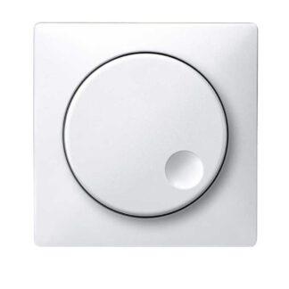 Merten Artec Dimmer Abdeckung Zentralplatte mit Drehknopf polarweiß