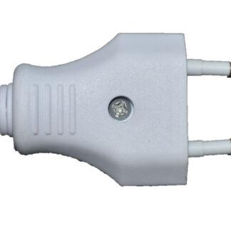 Eurostecker 250 V , Austauschstecker , weiß , zum schrauben