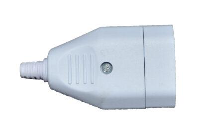 Eurokupplung 250 V , Austauschstecker , weiß , zum schrauben