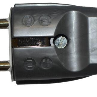 Unitec Stecker Schutzkontaktstecker silber