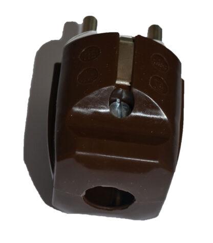 Inter Union Stecker Schutzkontaktstecker braun 16A