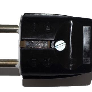 Inter Union Stecker Schutzkontaktstecker schwarz