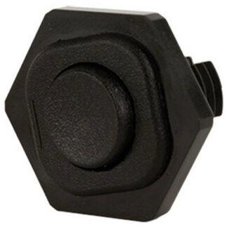 REV Wippenschalter mit Schraubanschluss, Wippschalter Einbauschalter 6A schwarz