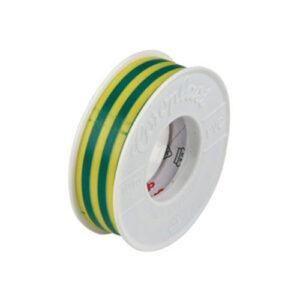 REV Kunststoff-Isolierband, 10 m 15 x 0,15 mm , grün-gelb