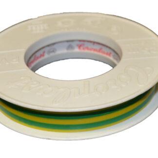 REV Kunststoff-Isolierband, 25 m 15 x 0,15 mm , grün-gelb