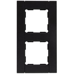 Rev Ritter Optima 2-fach Rahmen , schwarz soft-touch