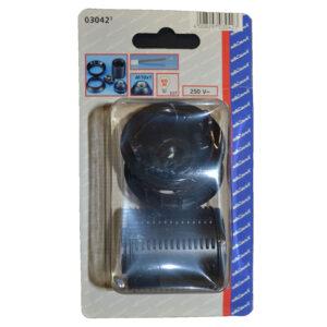REV Isolierstoff-Fassung mit Außengewindemantel, E27, schwarz