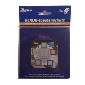 Kopp Dekorrahmen Tapetenschutz 1-fach Rahmen blau für nahezu alle Serien 3Stück