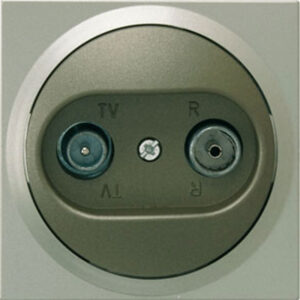 Düwi TerraLuxe Antennensteckdose TV/RF platin