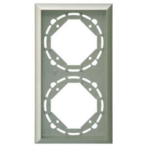 Düwi Terraluxe 2-fach Rahmen platin