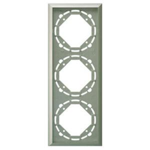 Düwi Terraluxe 3-fach Rahmen platin