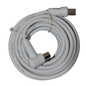 Elro Antennen TV Kabel Koaxialkabel 5m weiß