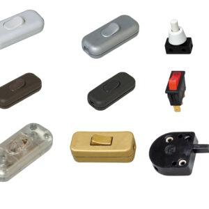 Schnurzwischenschalter und Einbauschalter