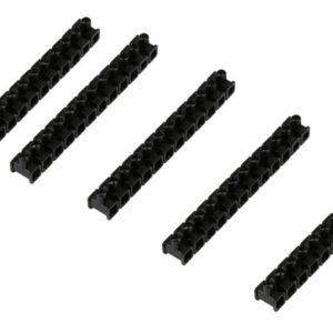 Kopp Dosenklemmen 5 x 12 polige Riegel in Schwarz