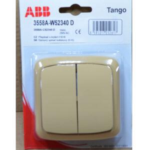 ABB Tango Kompletter schalter 6+6 , beige