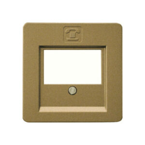 Düwi Everluxe Abdeckung für TAE-Telefon-Anschlussdose bronze