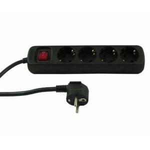 REV Steckdosenleiste 4-fach mit Schalter und Kinderschutz 1.4m Zuleitung schwarz