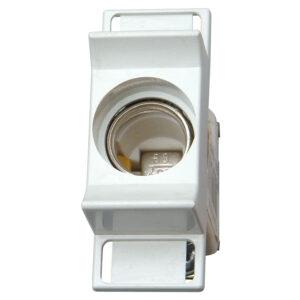 Kopp Sicherungssockel D02, 1-polig mit Schnappbefestigung und Abdeckung für Sicherungen