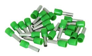 Kopp Ader Endhülsen mit Kunststoffkragen, 6mm², 25 Stück, grün